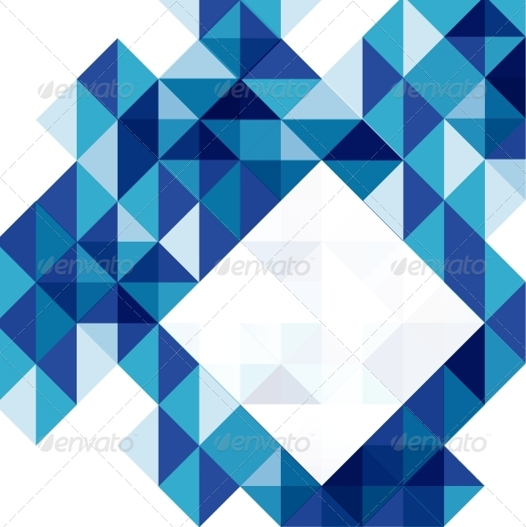 GraphicRiver Blue modern geometric design template 4006367