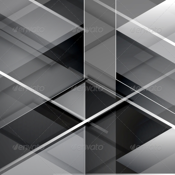 GraphicRiver Black modern geometric abstract background 4006382