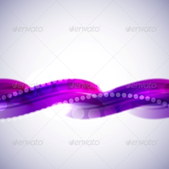 GraphicRiver Violet abstract wave background template 4006637