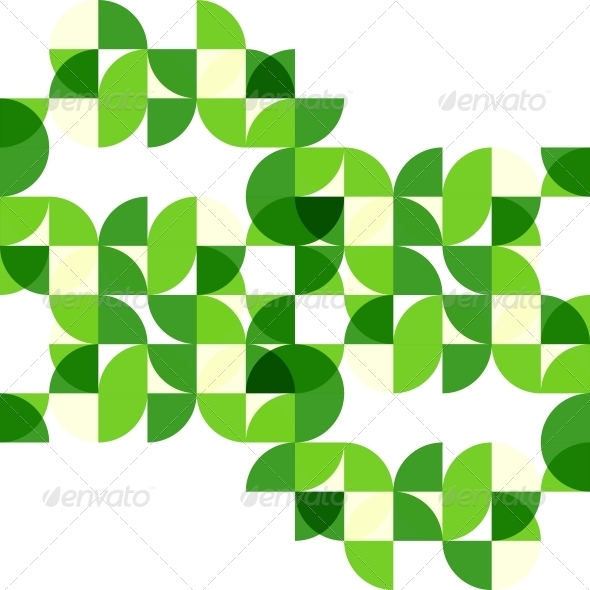 Green modern geometric abstract background