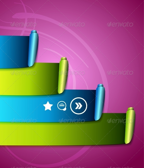 GraphicRiver Colorful Scroll Ribbons Infographic Design 4006647