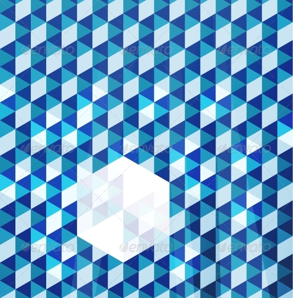 GraphicRiver Blue Modern Geometric Design Template 4006656