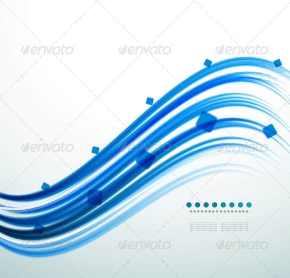 Abstract Blue Swirl Template
