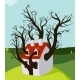 House Tree Grown Inside - GraphicRiver Item for Sale