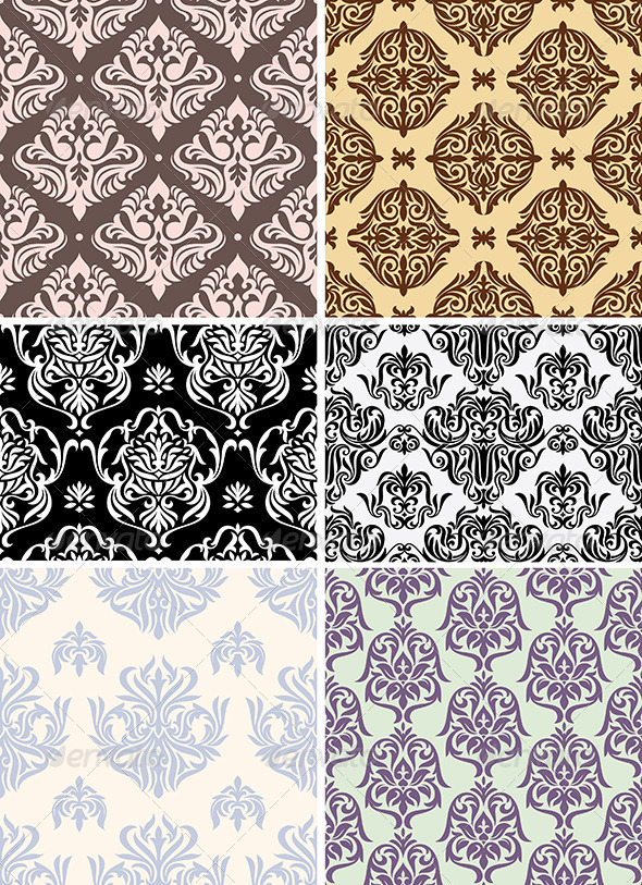 GraphicRiver Seamless Retro Wallpapers 4006756