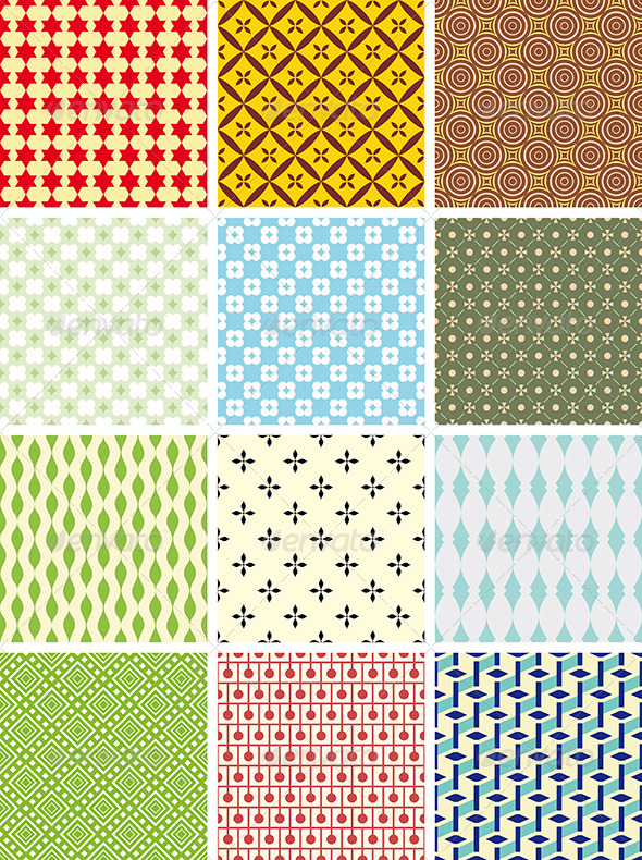 GraphicRiver Geometric Vector Patterns 4006759