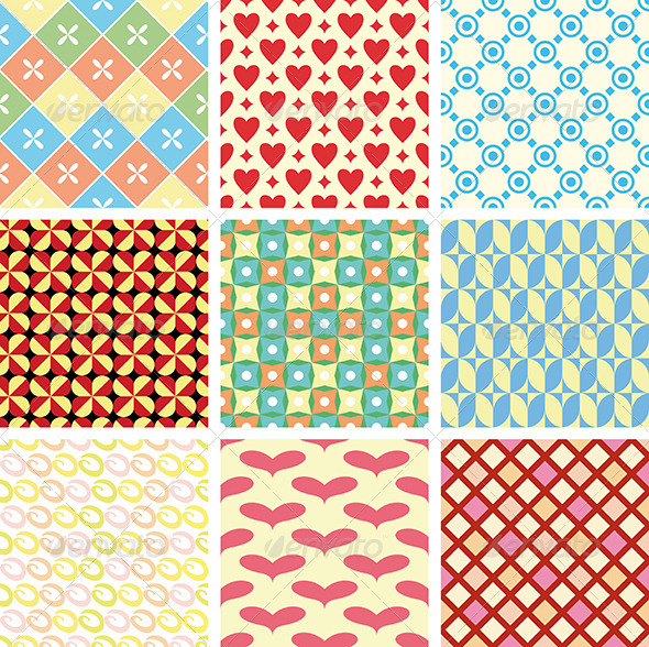 GraphicRiver Geometric Vector Patterns 4006768