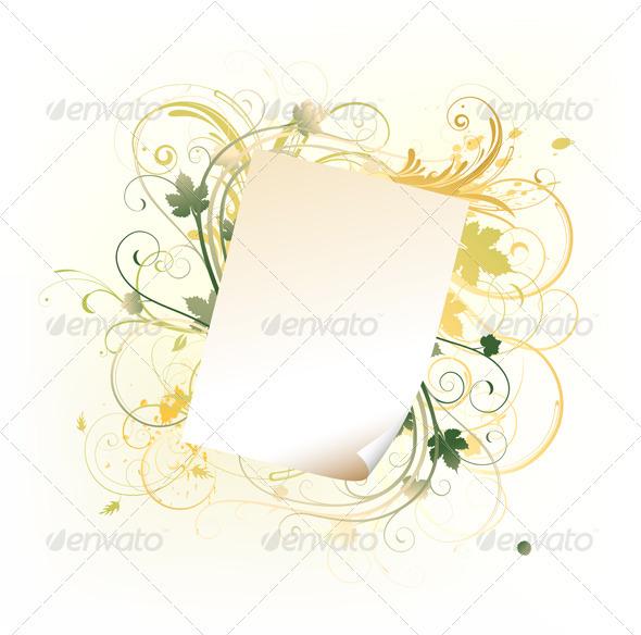 GraphicRiver floral frame 4007183