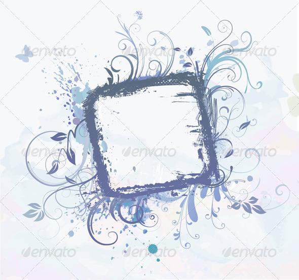 GraphicRiver Floral Frame 4007426