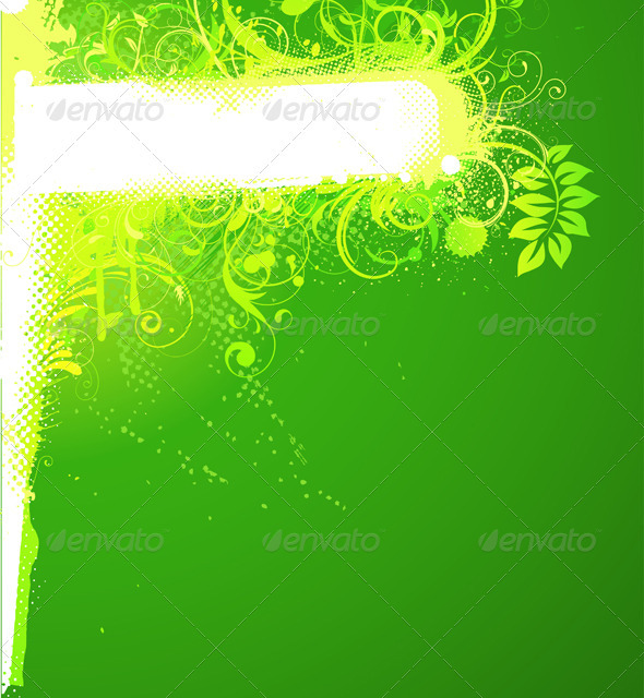 GraphicRiver Floral Decorative Banner 4007525