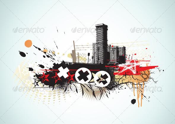 GraphicRiver Urban Grunge Background 4007694