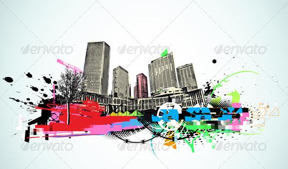 GraphicRiver Urban Grunge Background 4007710