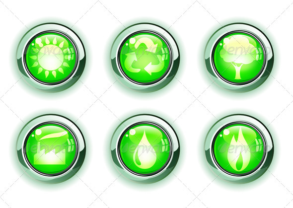 GraphicRiver Green Ecology Icons 4007720
