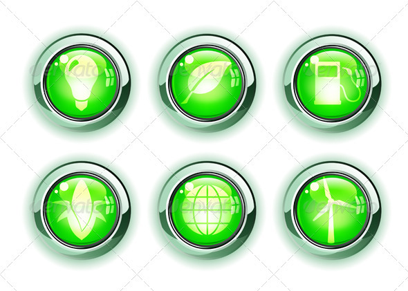 GraphicRiver Green Ecology Icons 4007722