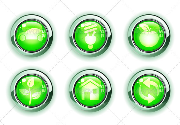 GraphicRiver Green Ecology Icons 4007723