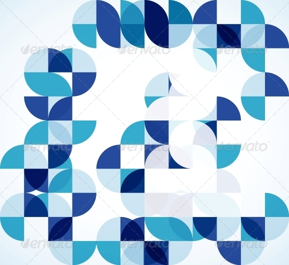 GraphicRiver Blue Modern Geometric Abstract Background 4007907