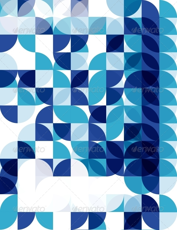 GraphicRiver Blue Modern Geometric Abstract Background 4007924