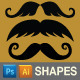 Moustache Custom Shapes - GraphicRiver Item for Sale