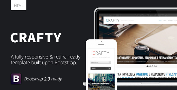 Crafty - Responsive Retina-ready HTML Template