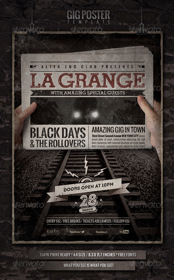 GraphicRiver GIG Poster Flyer 4009204