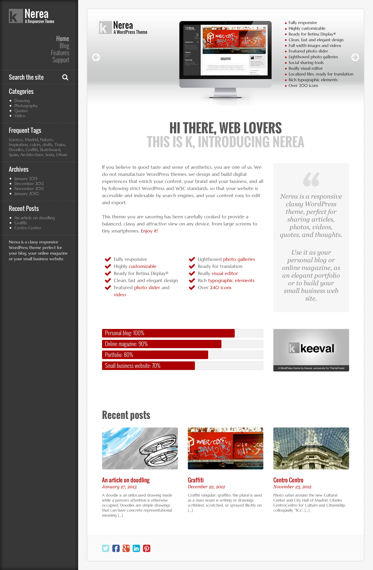 Nerea WordPress Responsive Theme