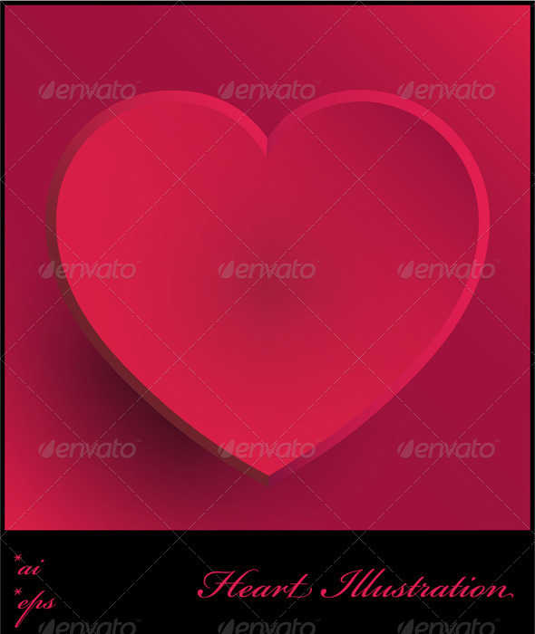 GraphicRiver Pink Heart Illustration 4009503