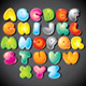 Funky Cartoon Alphabet. Vector Clipart - GraphicRiver Item for Sale