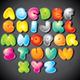 Funky Cartoon Alphabet. Vector Clipart - GraphicRiver Item for Sale
