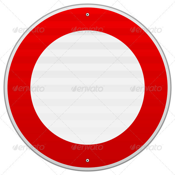 GraphicRiver No Traffic Red Sign 4011063