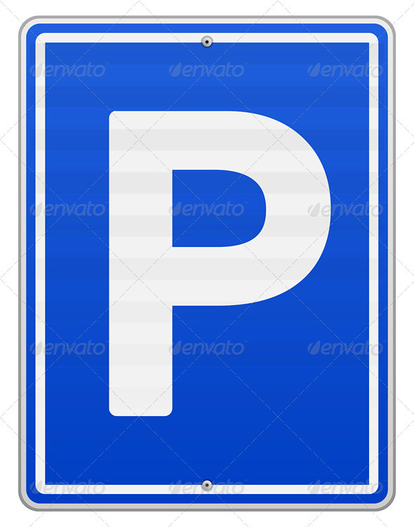 GraphicRiver Isolated Parking Sign 4011070