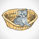 Kitten in Basket - GraphicRiver Item for Sale