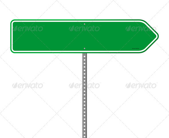 GraphicRiver Empty Green Direction Sign 4011585