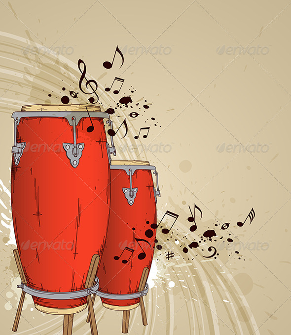 GraphicRiver Red Drums 4011848