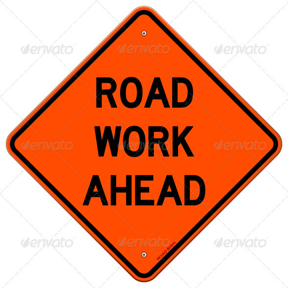GraphicRiver Road Work Ahead Sign 4011906