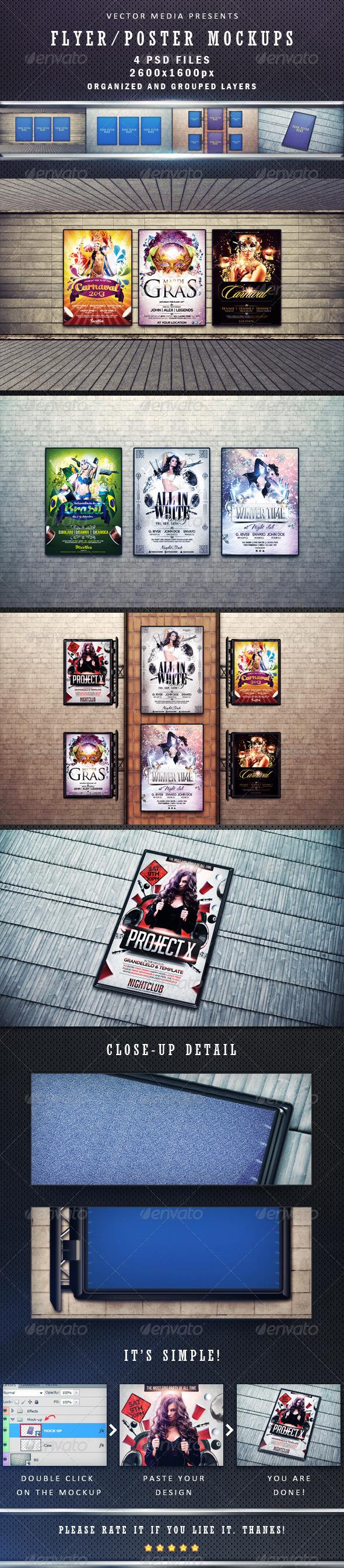 GraphicRiver Flyer Poster Mockups 4012766
