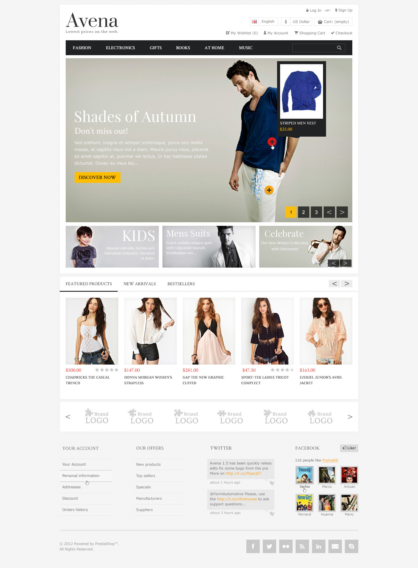 Avena PSD eCommerce template