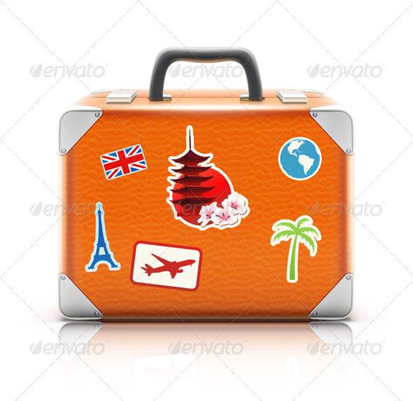 GraphicRiver vintage suitcase 4013179