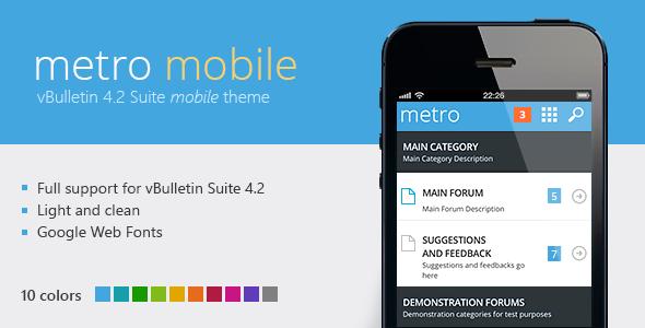 ThemeForest Metro Mobile A Mobile Theme for vBulletin 4.2 4013274