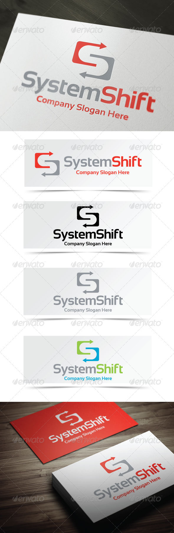 GraphicRiver System Shift Logo 4013578