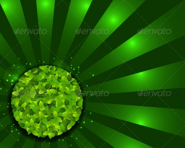 GraphicRiver Environmental background with plant Vector illus 4014213