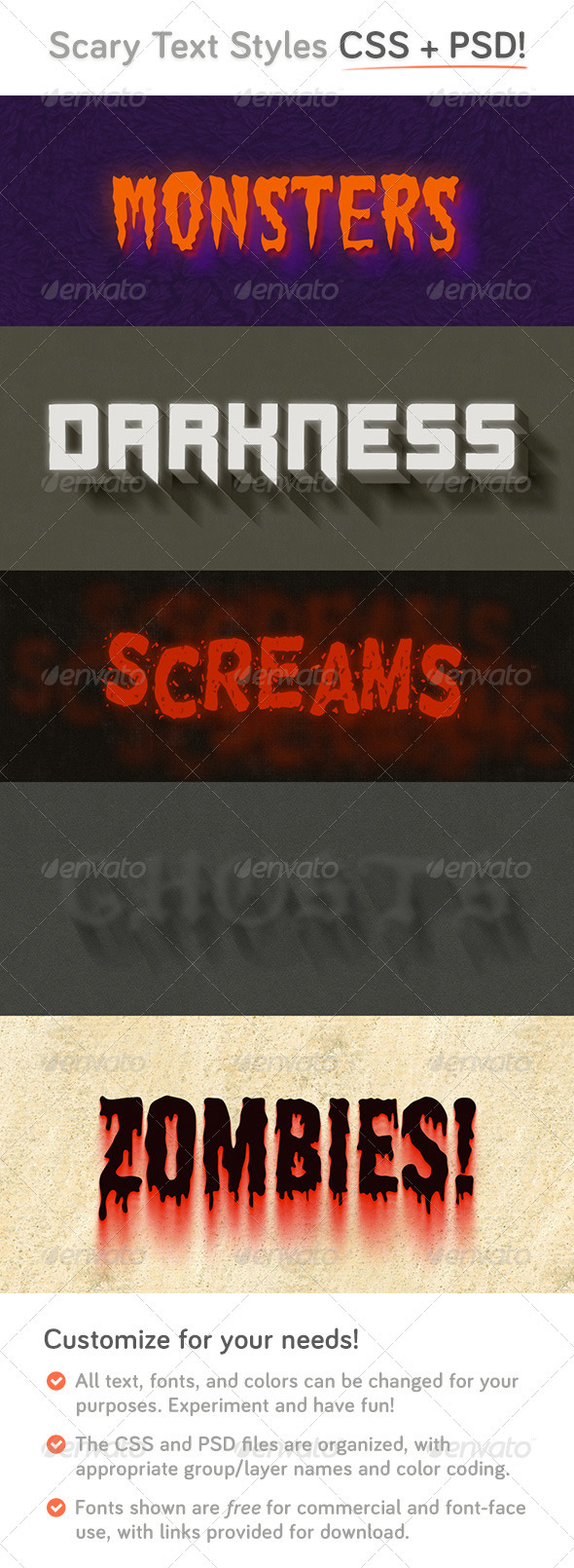 GraphicRiver Scary CSS Type Styles &PSD 4014292
