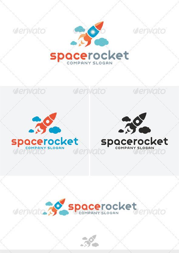 GraphicRiver Space Rocket Logo 4014617