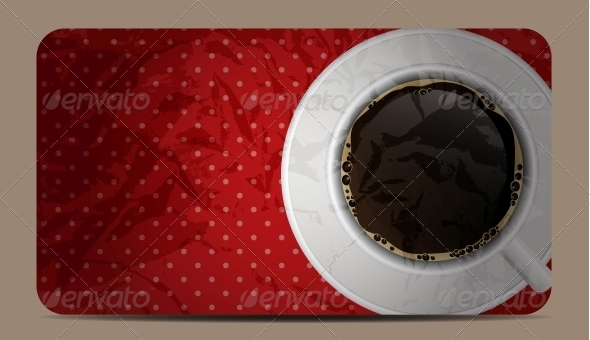 GraphicRiver Vintage Coffee Gift Card Vector Illustration 4014691