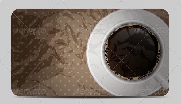 Vintage Coffee Gift Card Vector Illustration