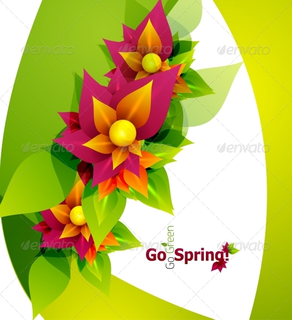 GraphicRiver Spring Flower Abstract Background 4014743