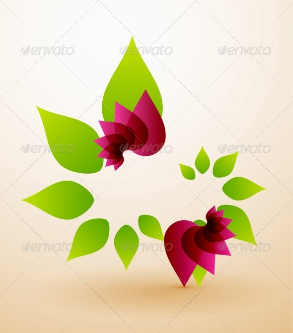 GraphicRiver Spring Flower Abstract Background 4014747