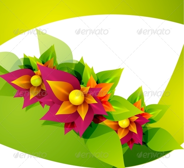 GraphicRiver Spring Flower Abstract Background 4014749
