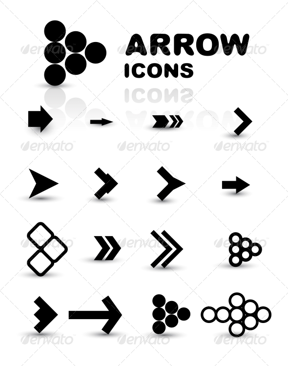 GraphicRiver Vector Set of Black Arrow Icons 4014810