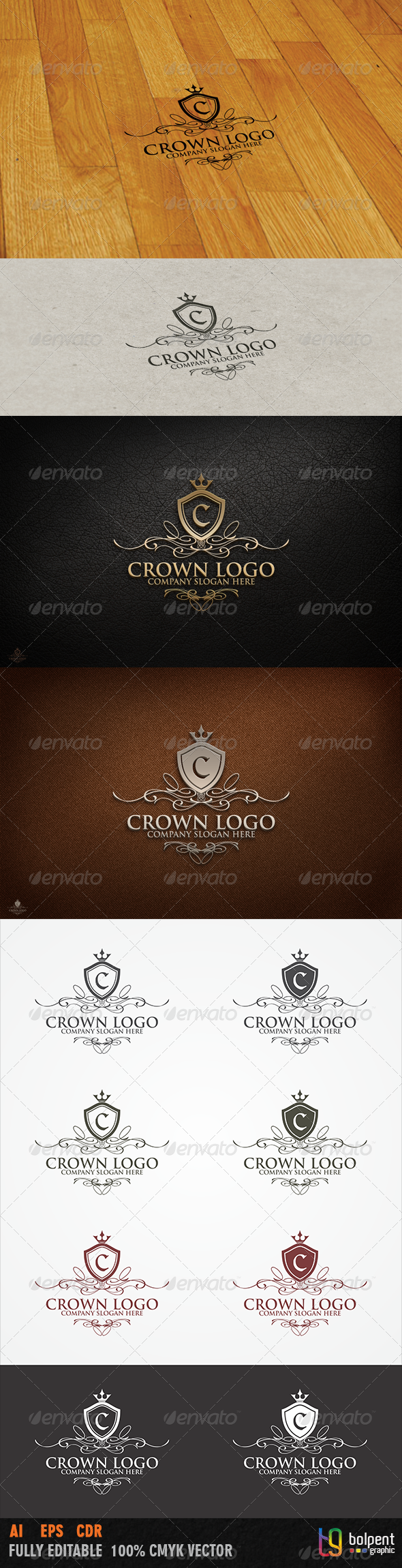 Crown Logo Template - Crests Logo Templates
