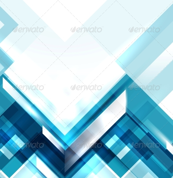 GraphicRiver Blue Modern Geometric Abstract Background 4015278